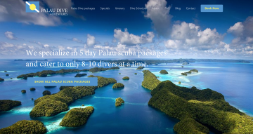 web development palau dive adventures